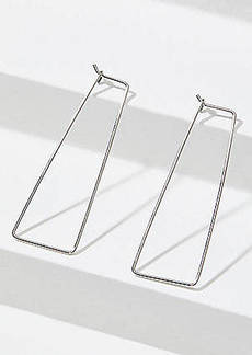 LOFT Rectangle Pull Through Hoop Earrings