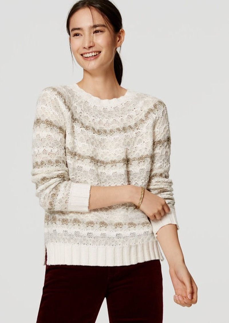 LOFT Relaxed Fairisle Sweater