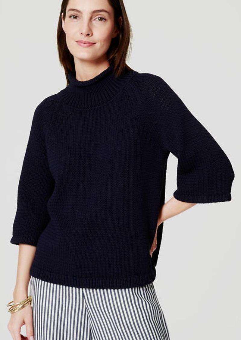 LOFT Relaxed Mockneck Sweater
