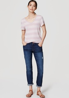 Relaxed Skinny Jeans in Dark Enzyme Wash