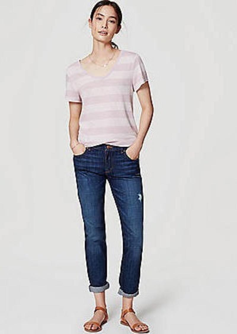 LOFT Relaxed Skinny Jeans in Dark Enzyme Wash