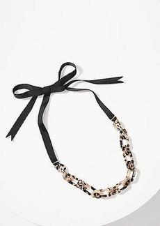 LOFT Resin Chain Link Tie Necklace