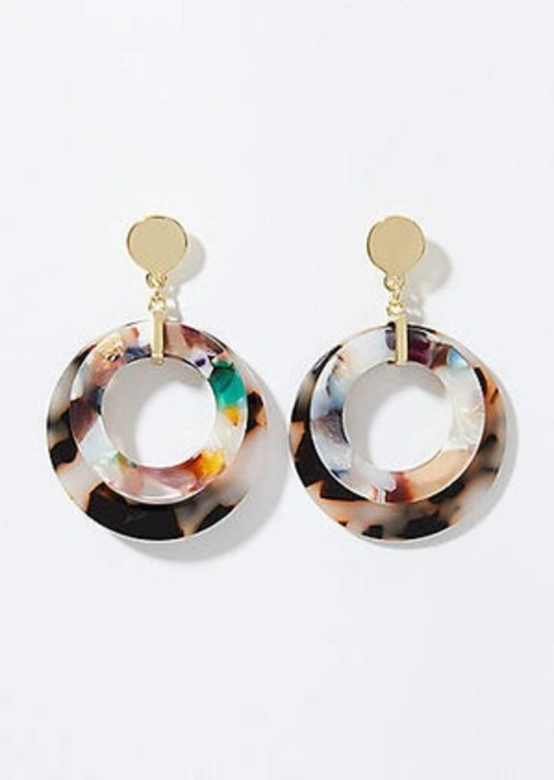 LOFT Resin Circle Earrings