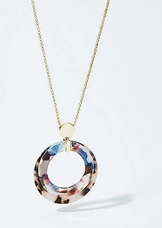 LOFT Resin Circle Pendant Necklace