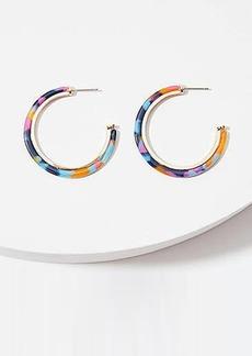 LOFT Resin Hoop Earrings