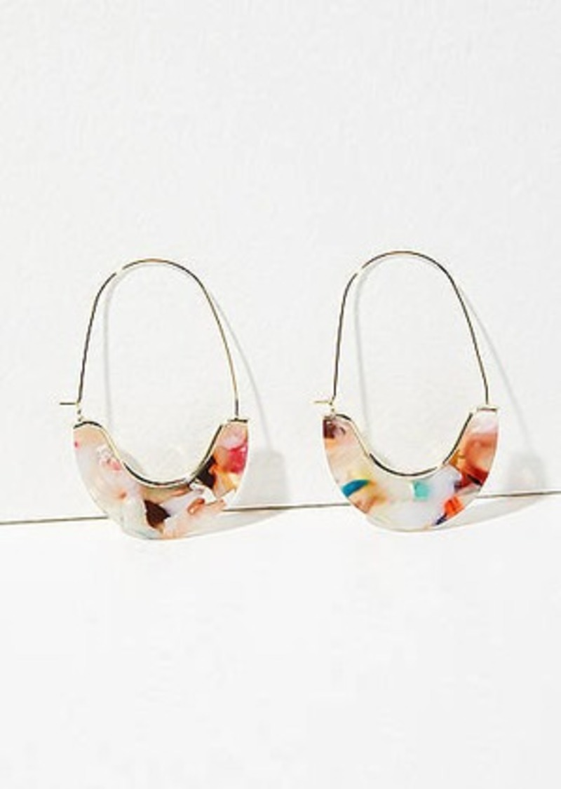 LOFT Resin Pull Through Hoop Earrings