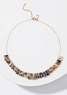 LOFT Resin Ring Statement Necklace