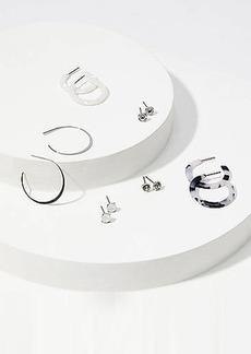 LOFT Resin Stud & Hoop Earring Set