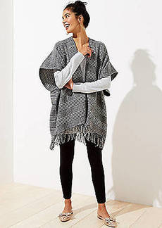 LOFT Reversible Houndstooth Poncho