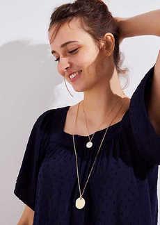 LOFT Reversible Pendant Necklace