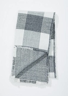 LOFT Reversible Plaid Blanket Scarf