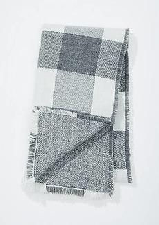 LOFT Reversible Plaid Blanket Scarf