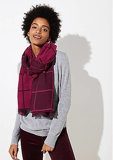 LOFT Reversible Plaid Jacquard Scarf