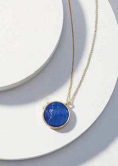LOFT Reversible Stone Locket Pendant Necklace
