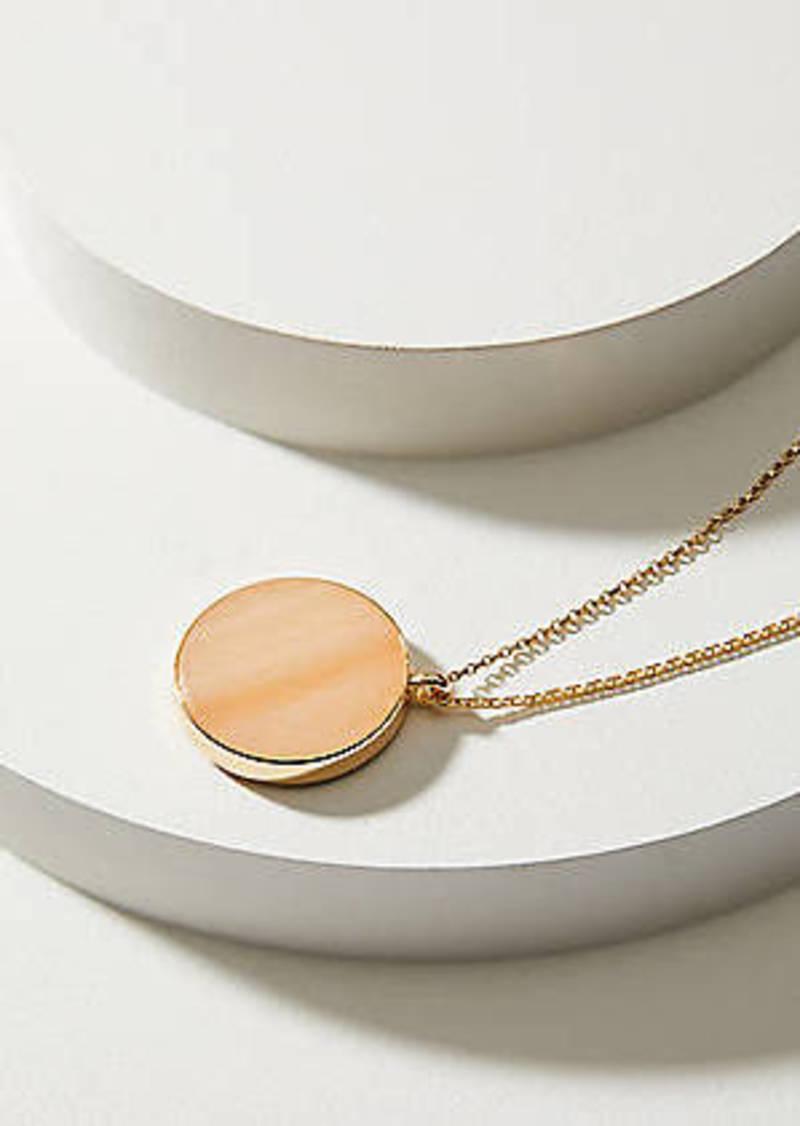 LOFT Reversible Stone Pendant Necklace