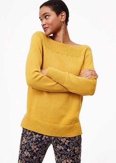 LOFT Rib Trim Boatneck Sweater