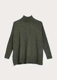 LOFT Rib Trim Poncho Sweater