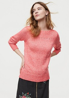 LOFT Ribbed Boatneck Sweater