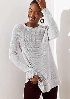 LOFT Ribbed Crossover Back Sweater