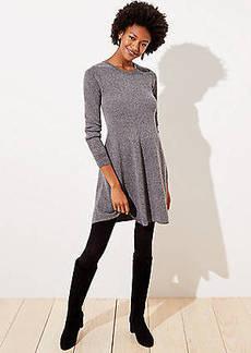 LOFT Ribbed Flare Sweater Dress