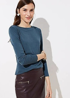 LOFT Ribbed Long Sleeve Tee