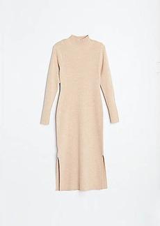 LOFT Ribbed Midi Sweater Dress