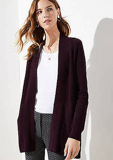 LOFT Ribbed Pocket Open Cardigan