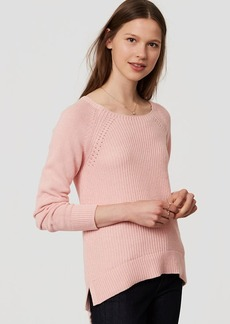 LOFT Ribbed Pointelle Sweater