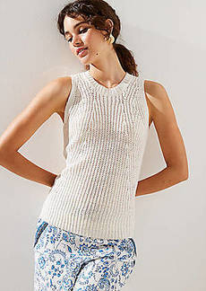 LOFT Ribbed Sweater Shell