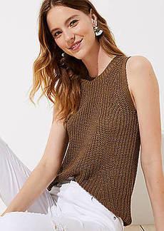 LOFT Ribbed Sweater Shell