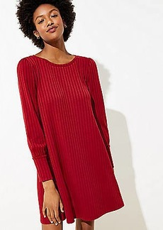 LOFT Ribbed Swing Dress