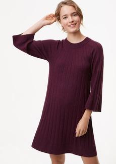 Ribbed Swing Sweater Dress