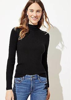 LOFT Ribbed Turtleneck Sweater