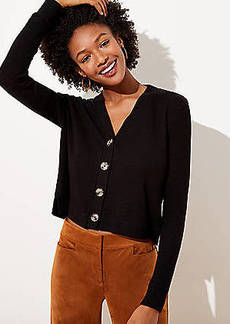 LOFT Ribbed V-Neck Cardigan