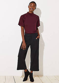 LOFT Ribbed Wide Leg Crop Pants