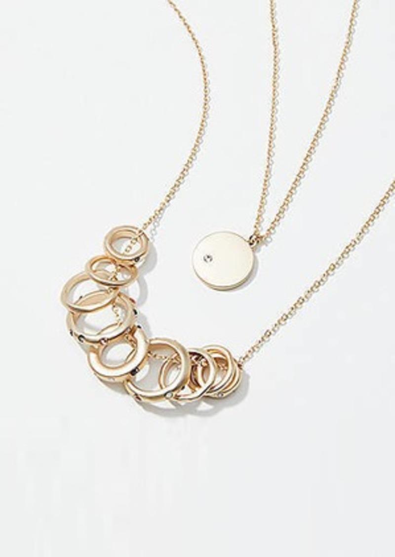 LOFT Ring Pendant Necklace