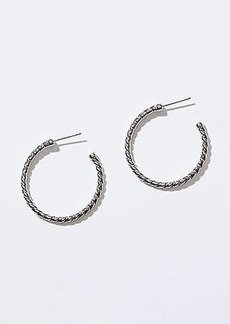 LOFT Rope Hoop Earrings