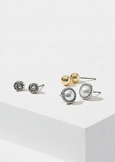 LOFT Rope Stud Earring Set