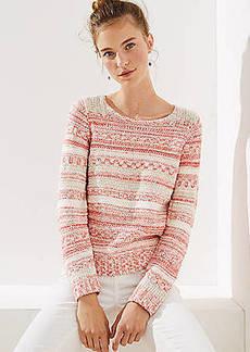 LOFT Rosé Stripe Sweater