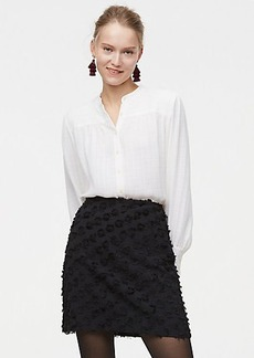 Rosette Jacquard Shift Skirt