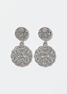 LOFT Round Pave Filigree Drop Earrings