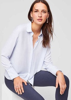 Rounded Collar Utility Blouse