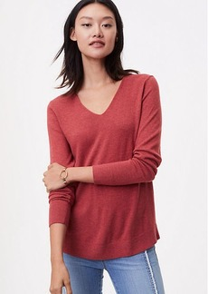 LOFT Rounded V-Neck Sweater