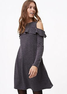 Ruffle Cold Shoulder Dress