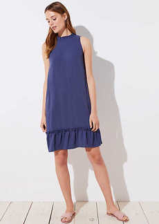 LOFT Ruffle Flounce Halter Dress