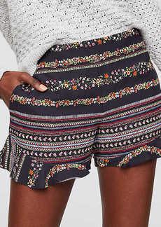 LOFT Ruffle Hem Riviera Shorts with 3 1/2 Inch Inseam