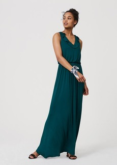 LOFT Ruffle Maxi Dress