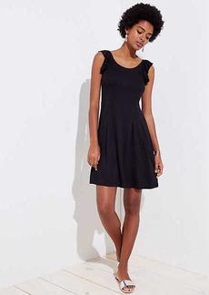 Ruffle Strap Flare Dress