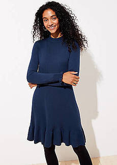 LOFT Ruffle Tie Back Sweater Dress