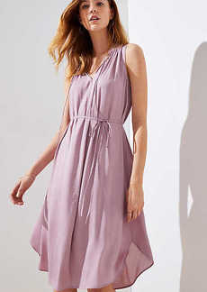 LOFT Ruffle Tie Waist Dress